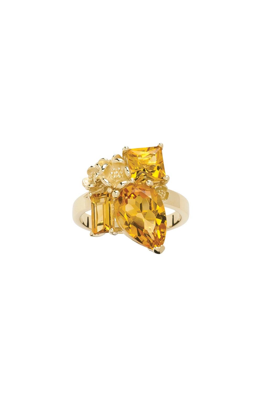 Rock Garden Ring Gold & Citrine