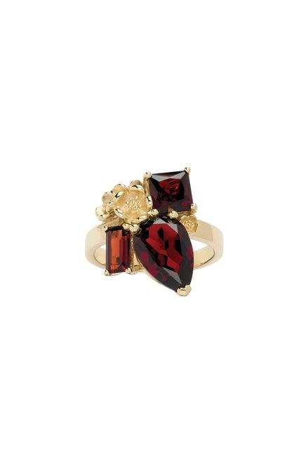 Rock Garden Ring Gold & Garnet