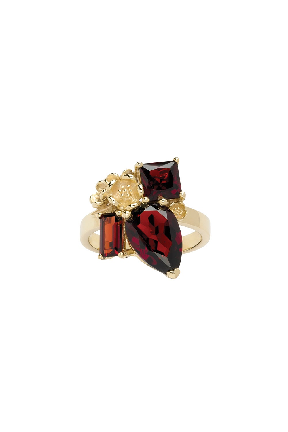 Rock Garden Ring Gold & Garnet