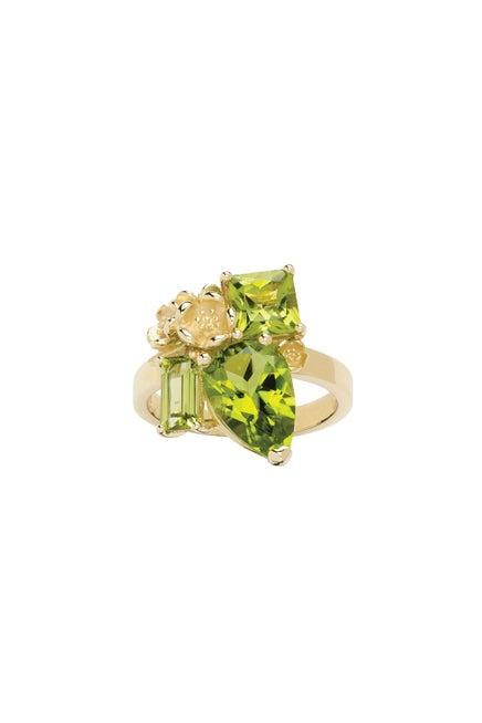 Rock Garden Ring Gold & Peridot