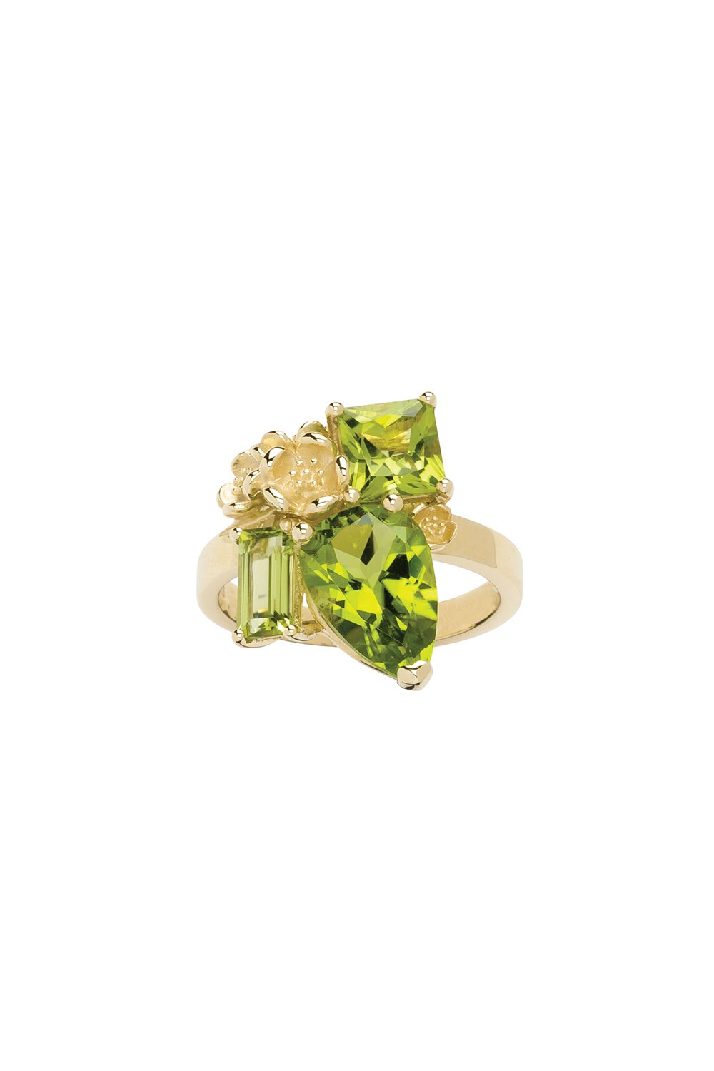Rock Garden Ring Gold & Peridot