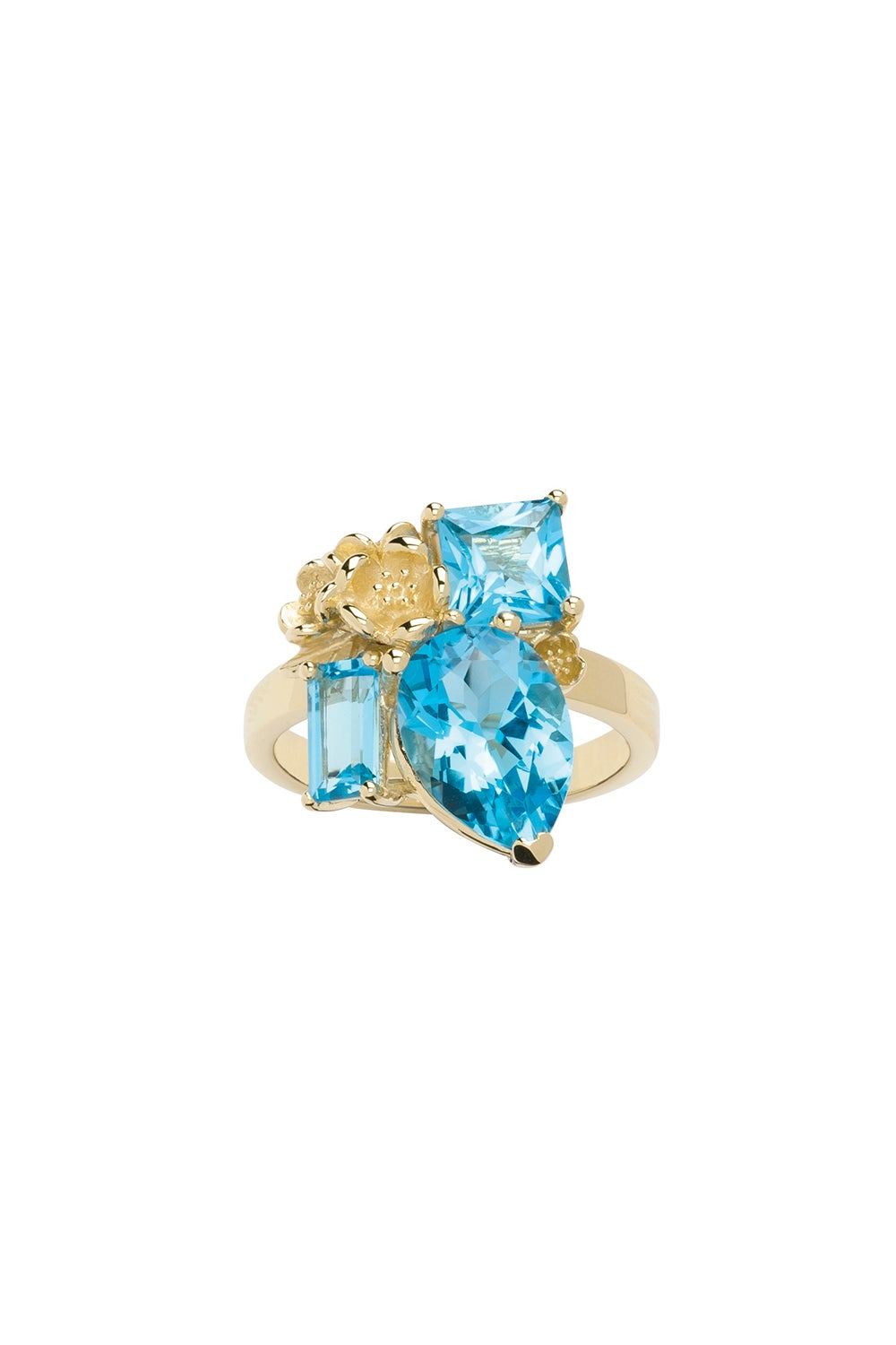 Rock Garden Ring Gold & Topaz