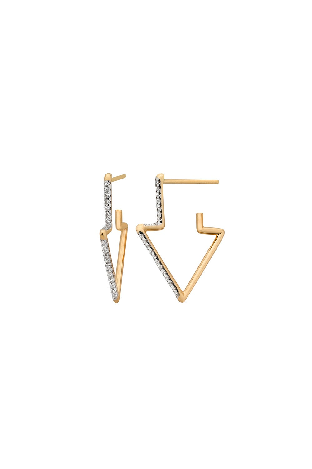 Runaway Arrow Earring, 9ct Gold, .24ct Diamond