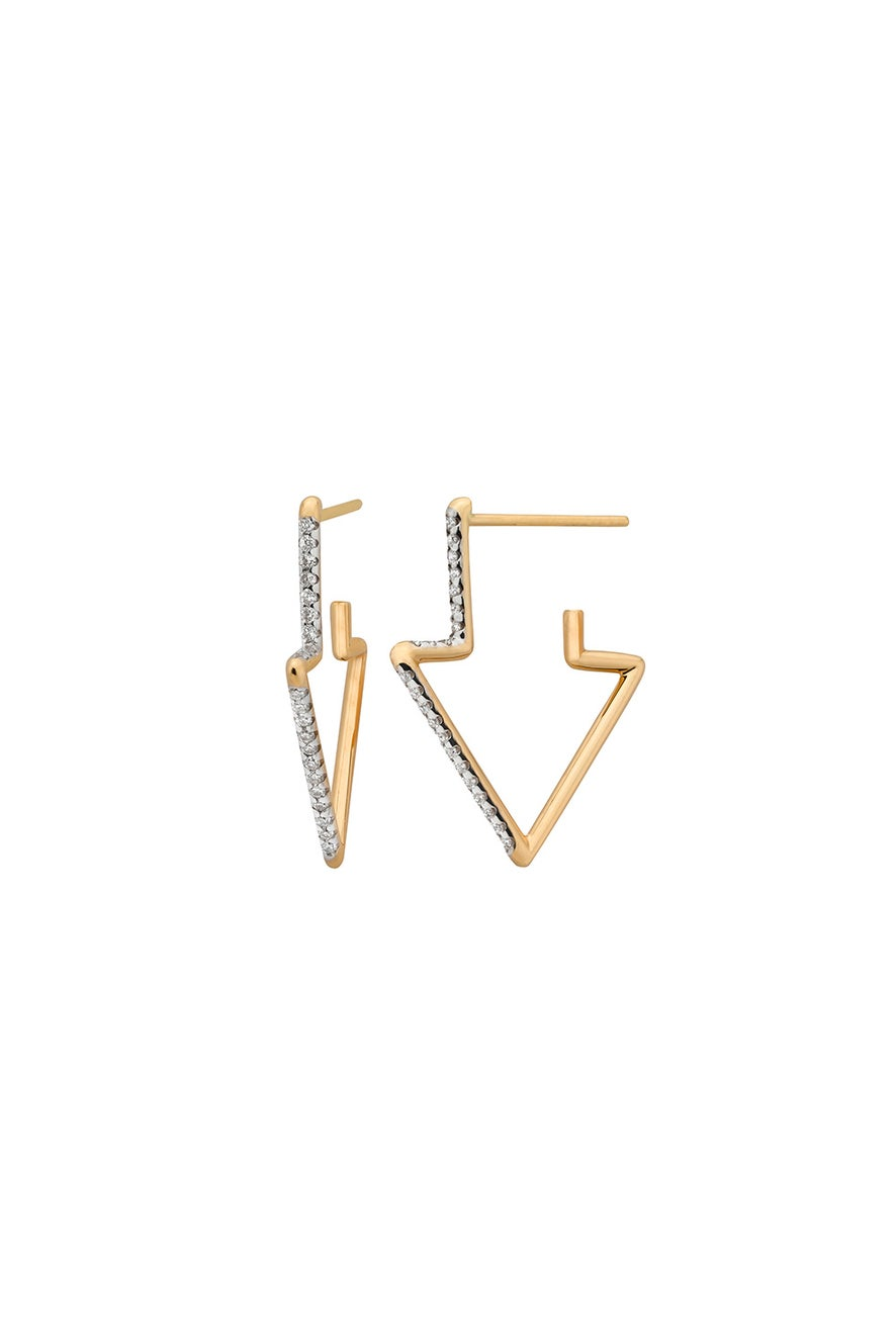 Runaway Arrow Earring, 9ct Gold, .24ct Diamond