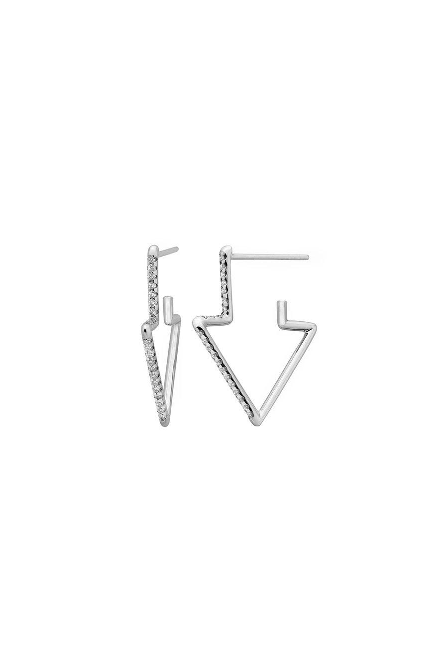Runaway Arrow Earring, 9ct White Gold, .24ct Diamond