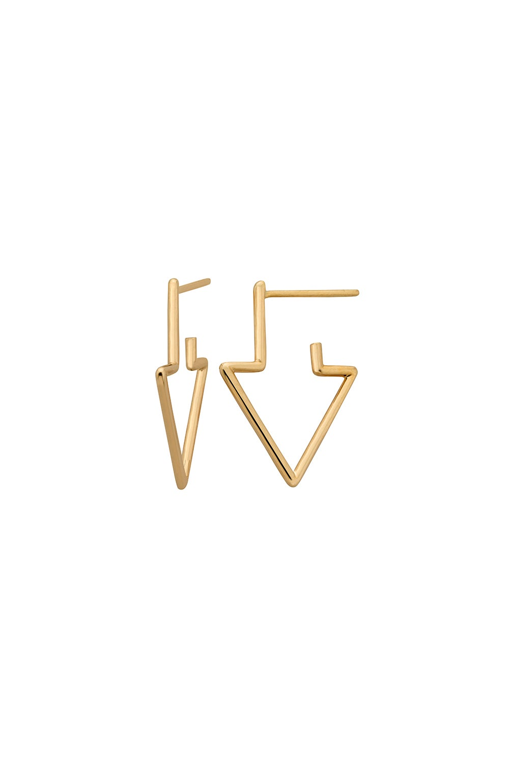 Runaway Arrow Earrings Gold