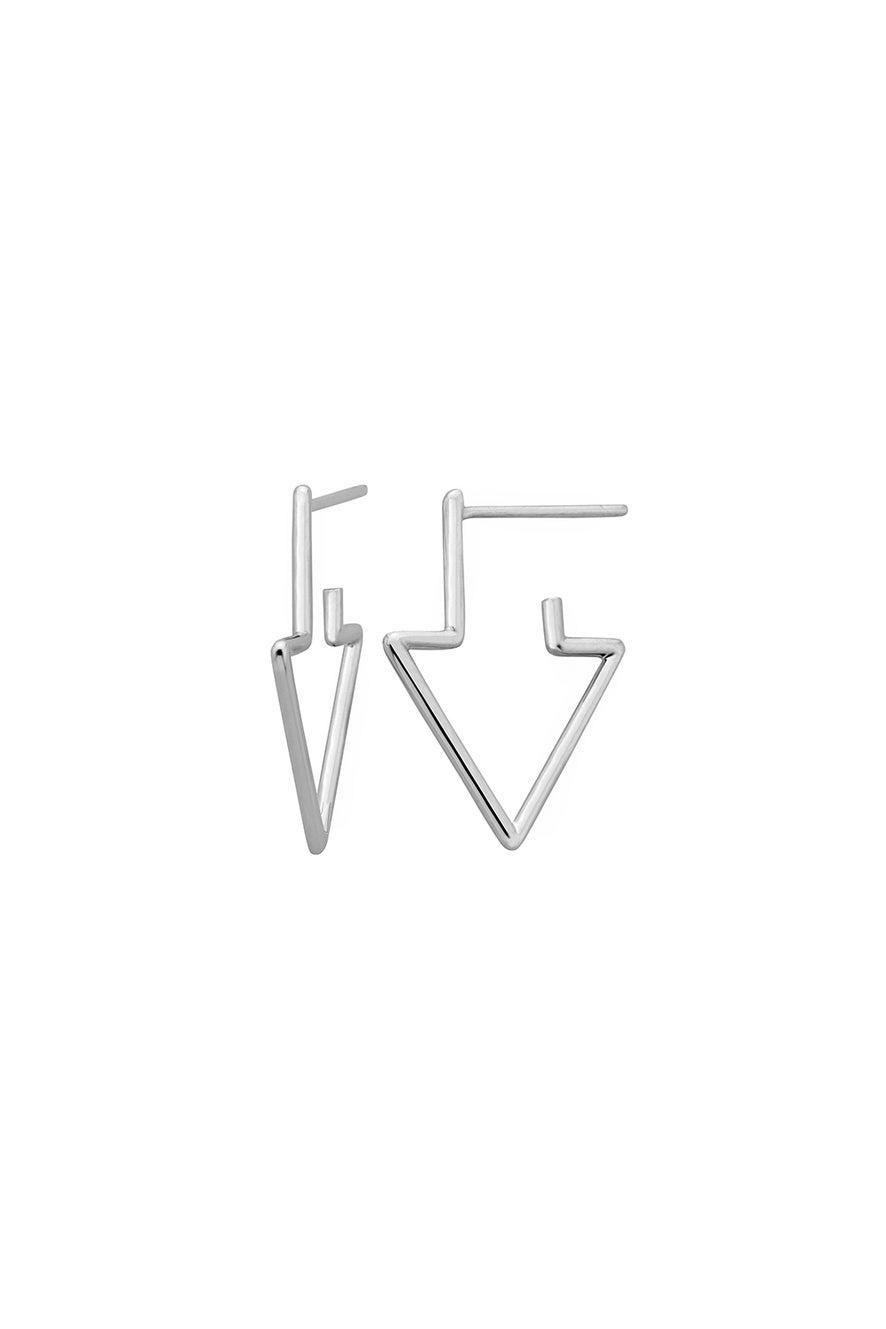 Runaway Arrow Earrings Silver