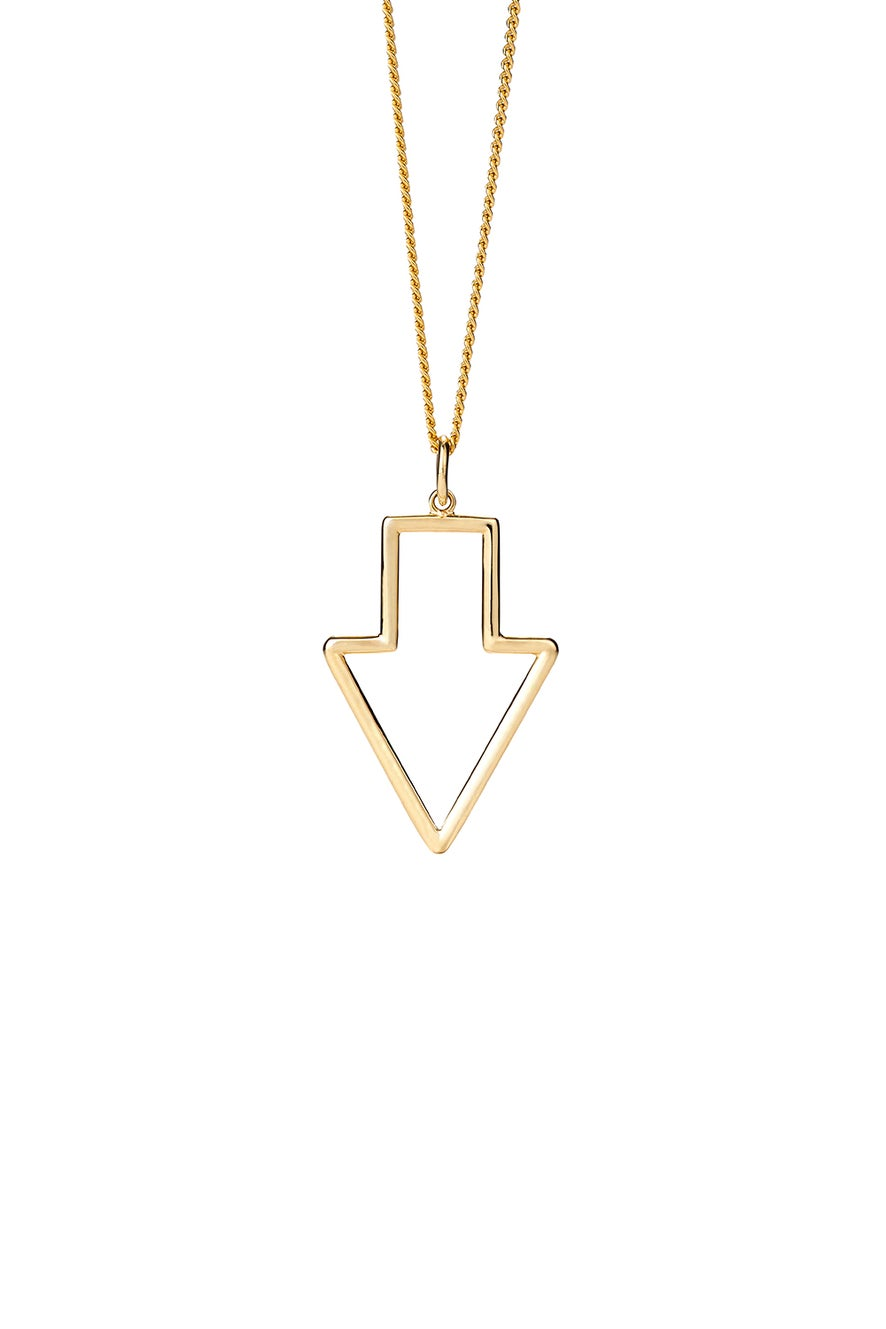 Runaway Arrow Pendant Gold