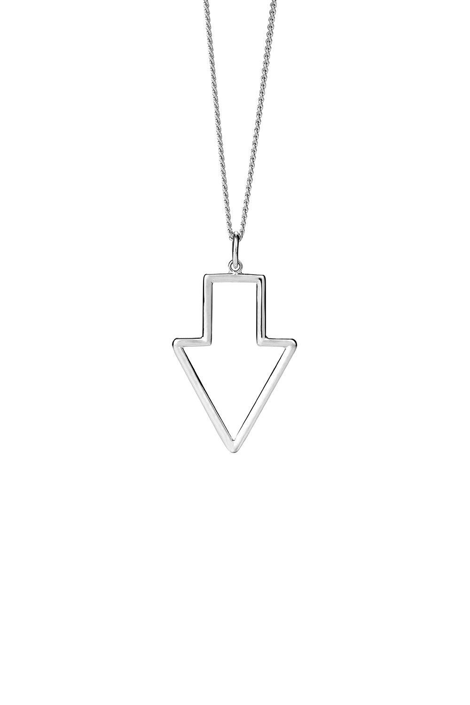 Runaway Arrow Pendant Silver