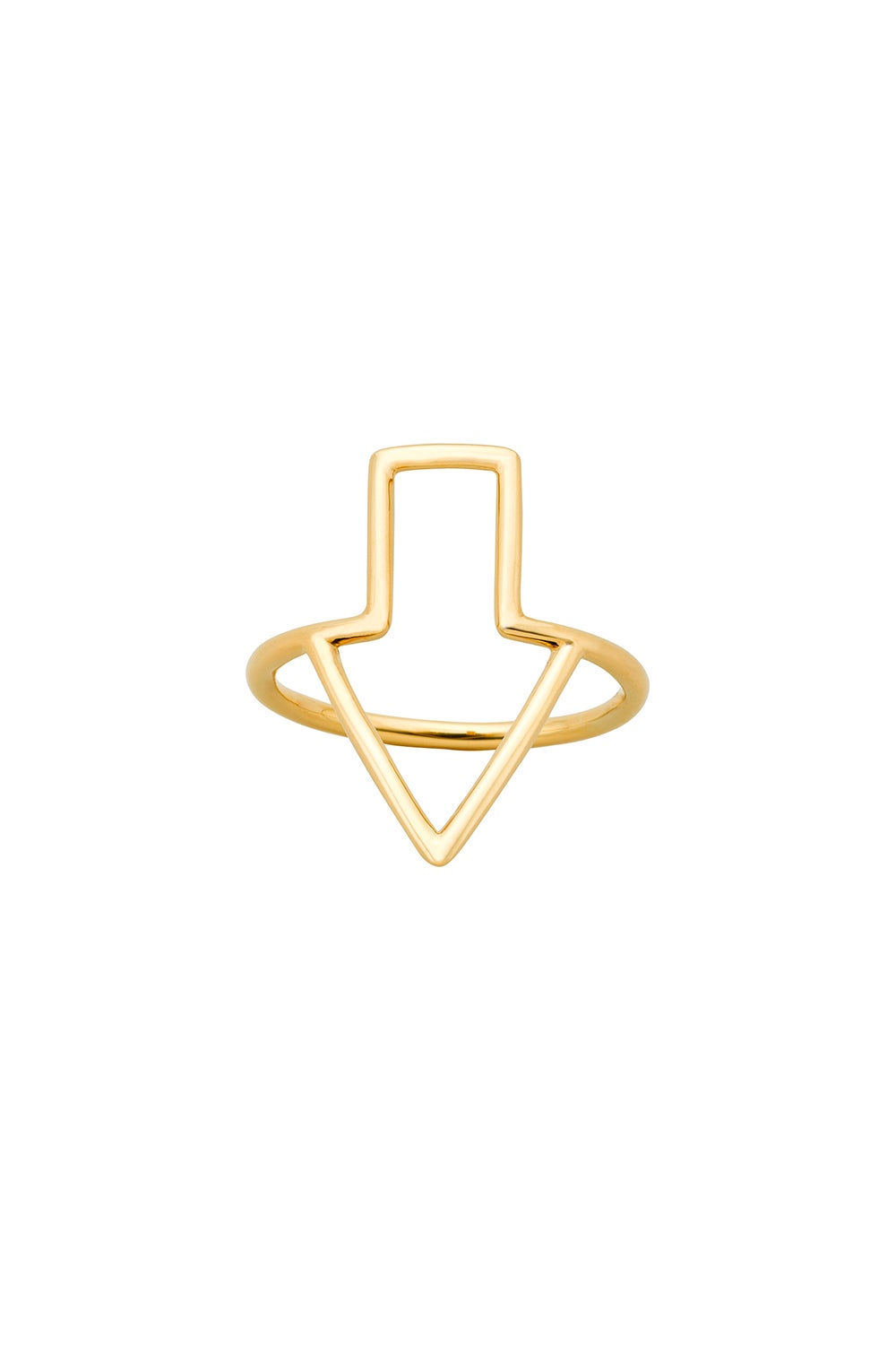 Runaway Arrow Ring Gold
