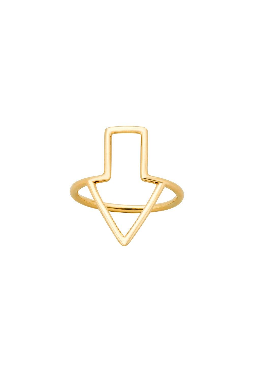 Runaway Arrow Ring Gold
