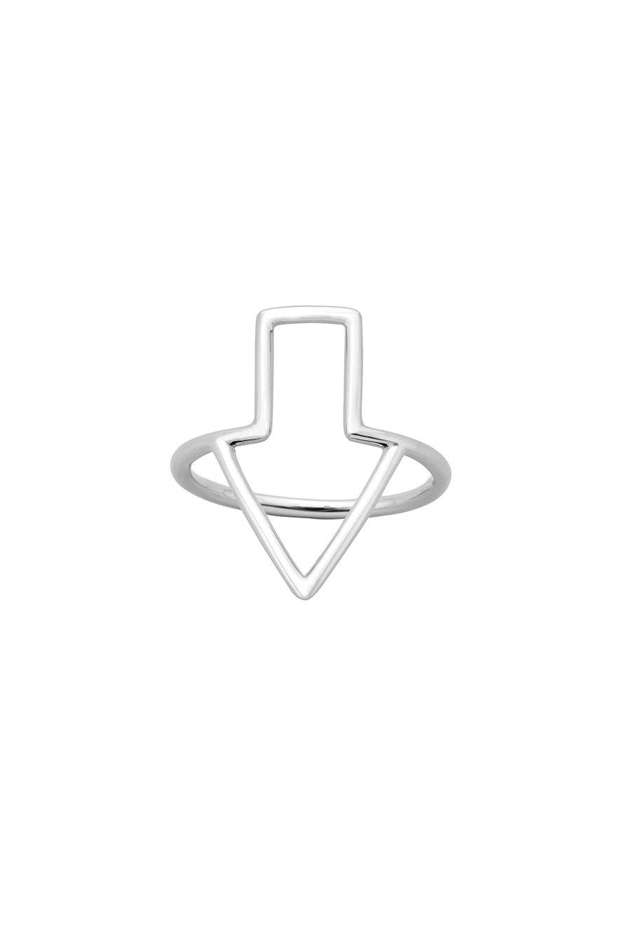 Runaway Arrow Ring Silver