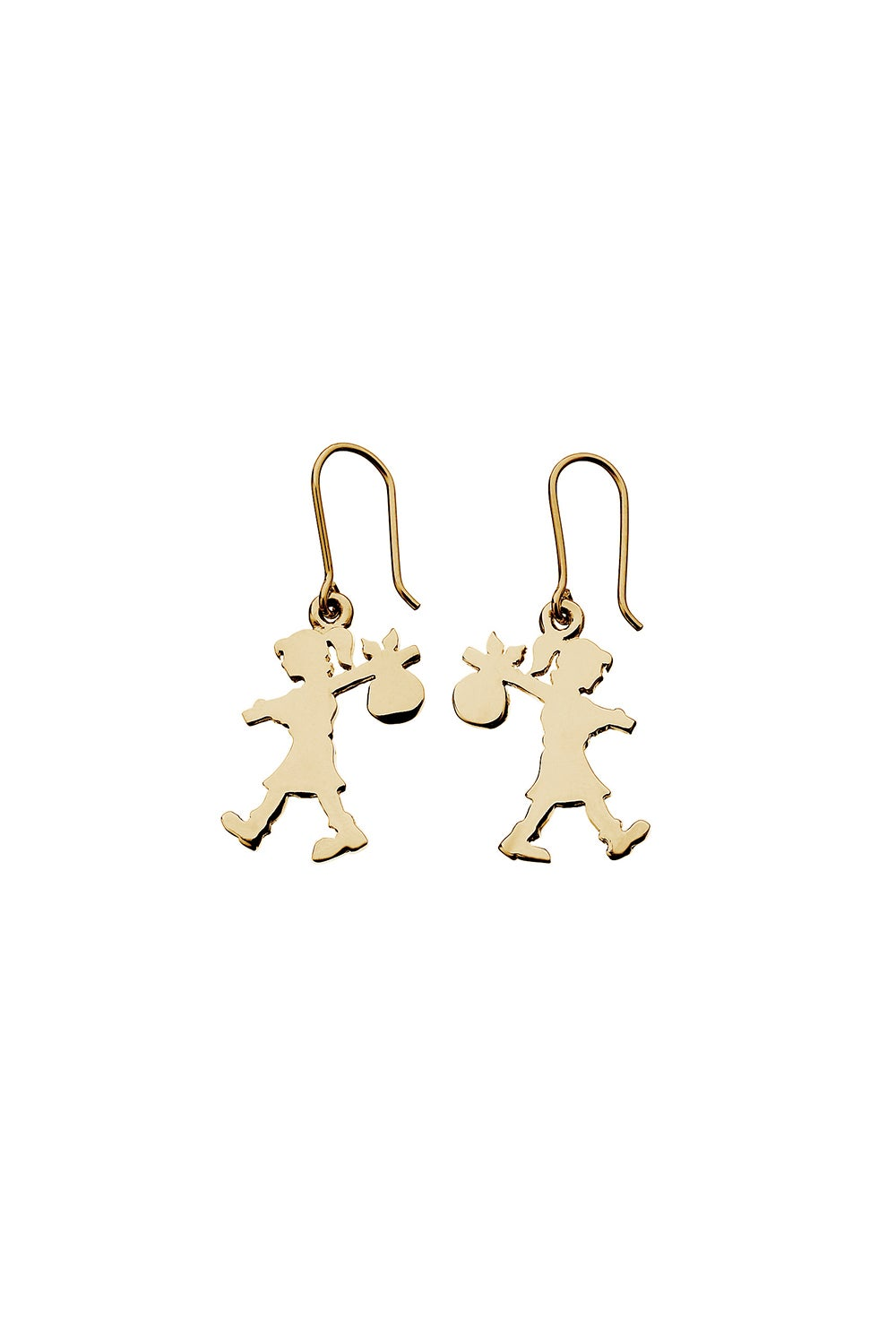 Runaway Girl Earrings Gold