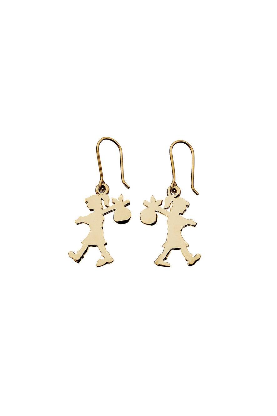Runaway Girl Earrings Gold