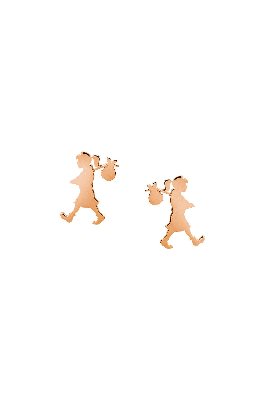Runaway Girl Studs Rose Gold