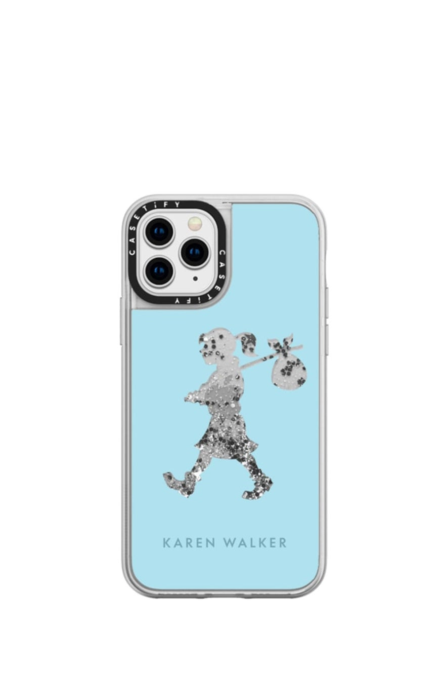 Runaway Girl iPhone Case Turquoise