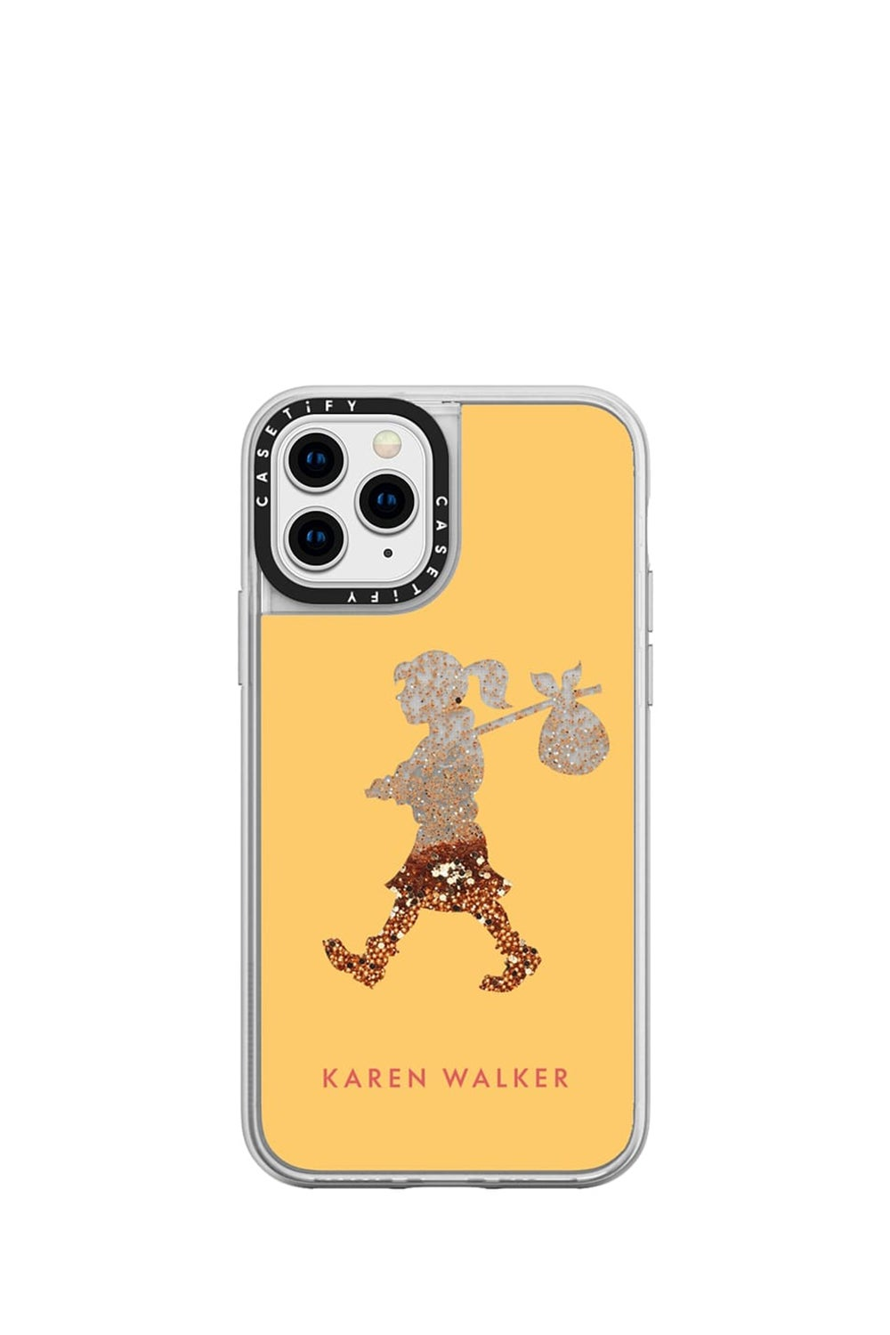 Runaway Girl iPhone Case Yellow