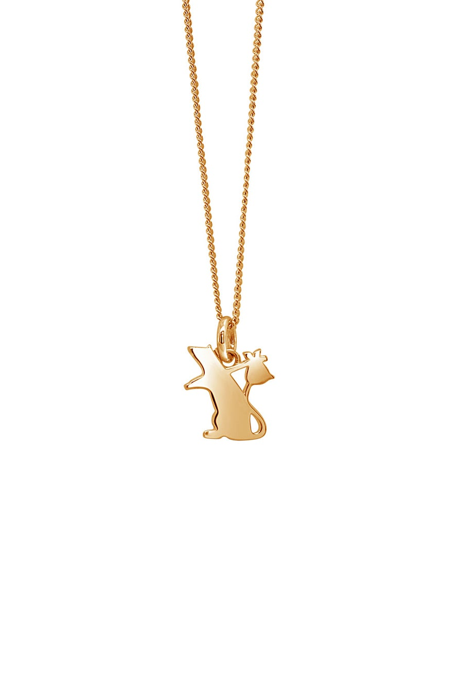 Runaway Rat Necklace Gold
