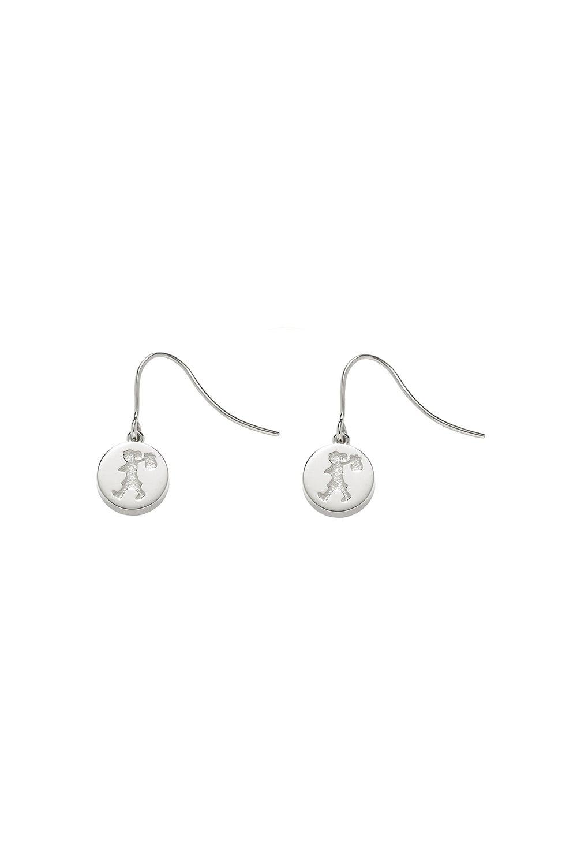 Runaway Stamp Earrings Silver
