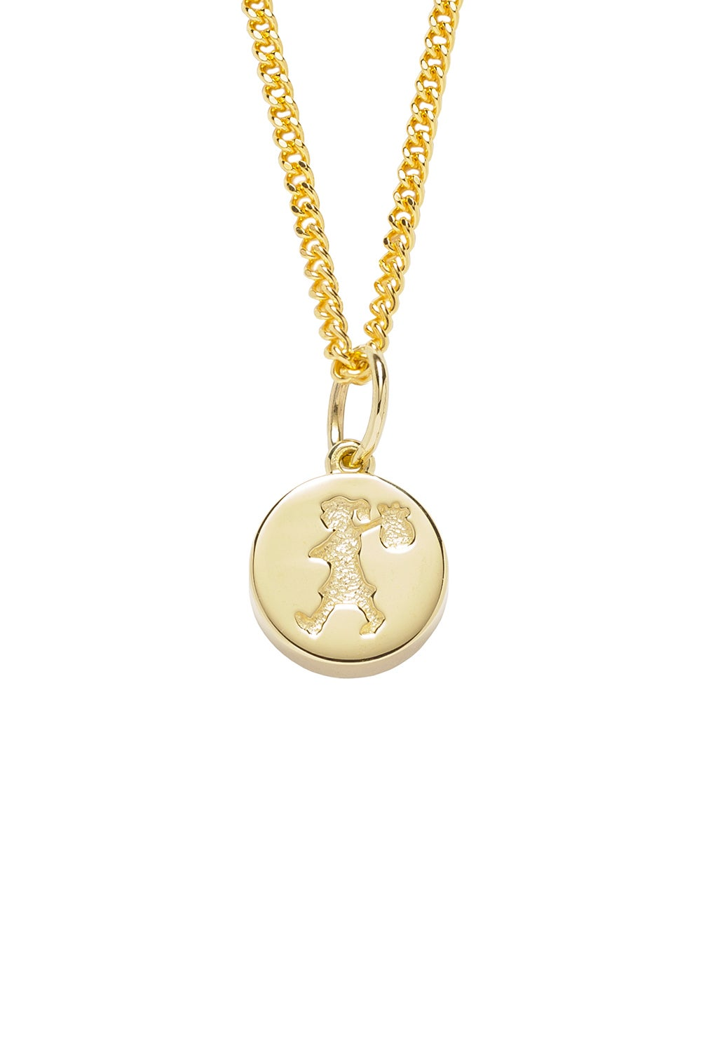 Runaway Stamp Necklace Gold