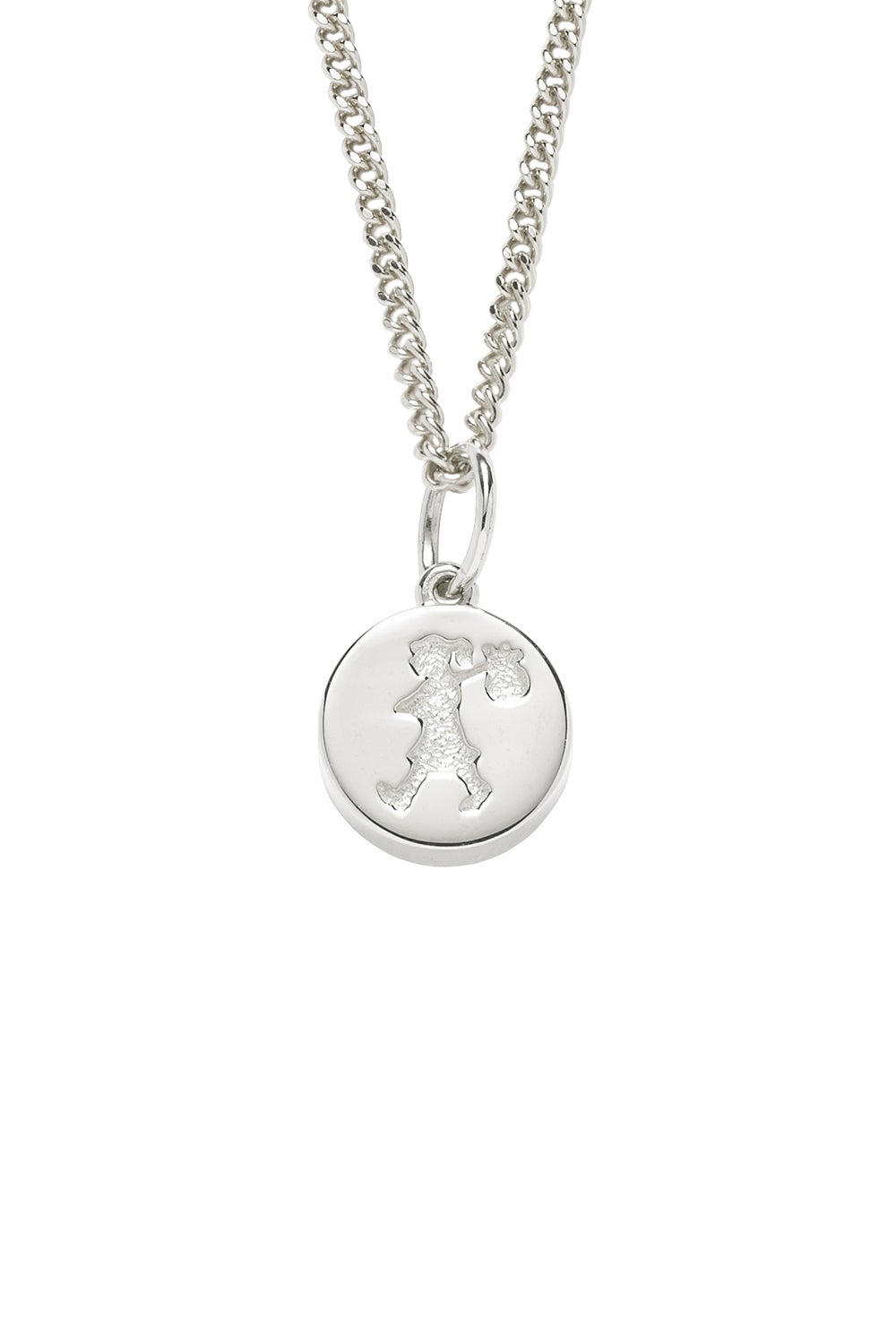 Runaway Stamp Necklace Silver
