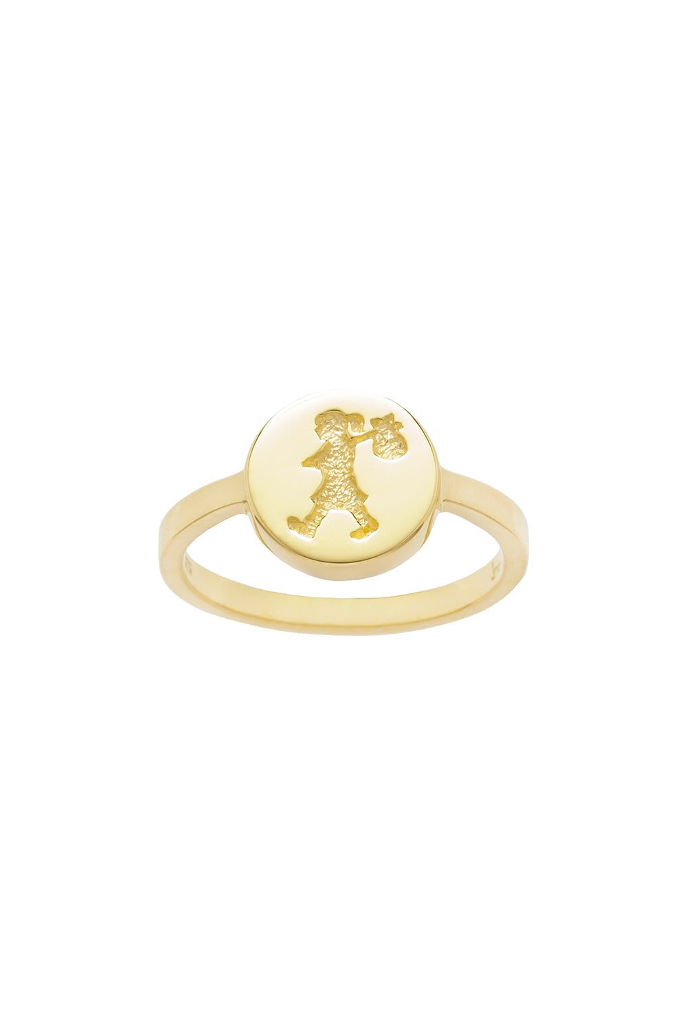 Runaway Stamp Ring Gold