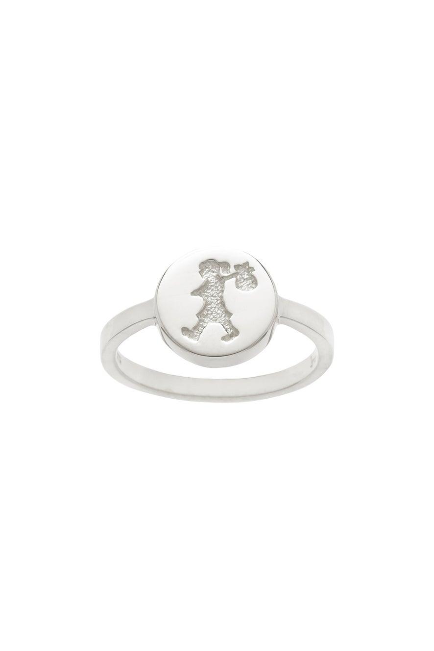 Runaway Stamp Ring Silver