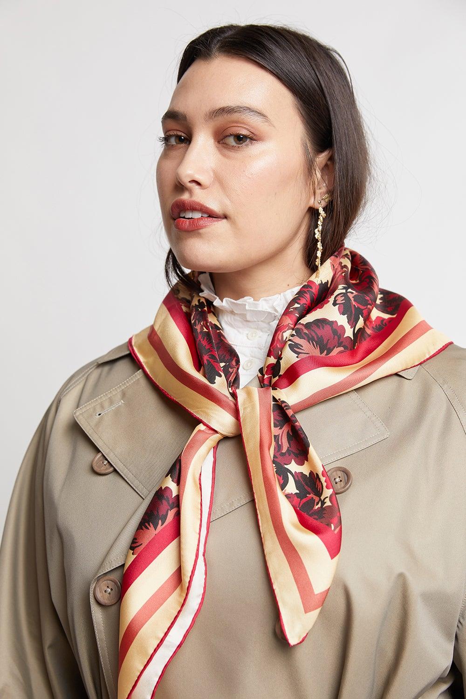 Russian Floral Silk Scarf