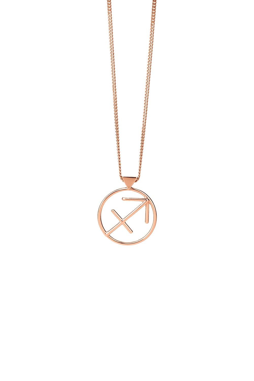 Sagittarius Necklace Rose Gold