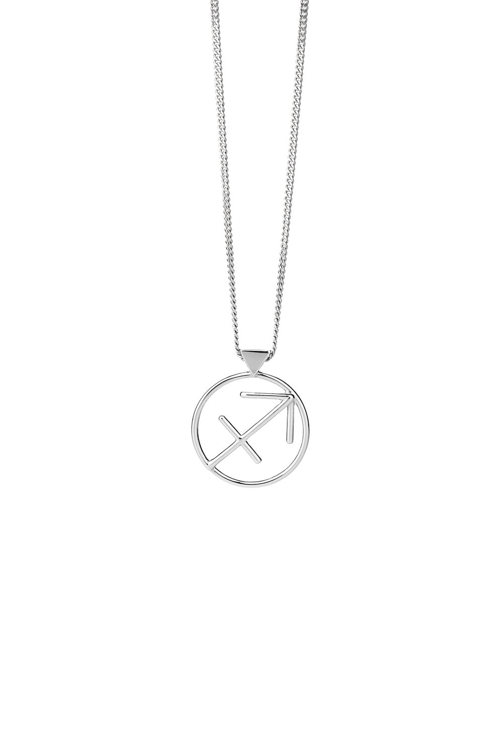 Sagittarius Necklace Silver