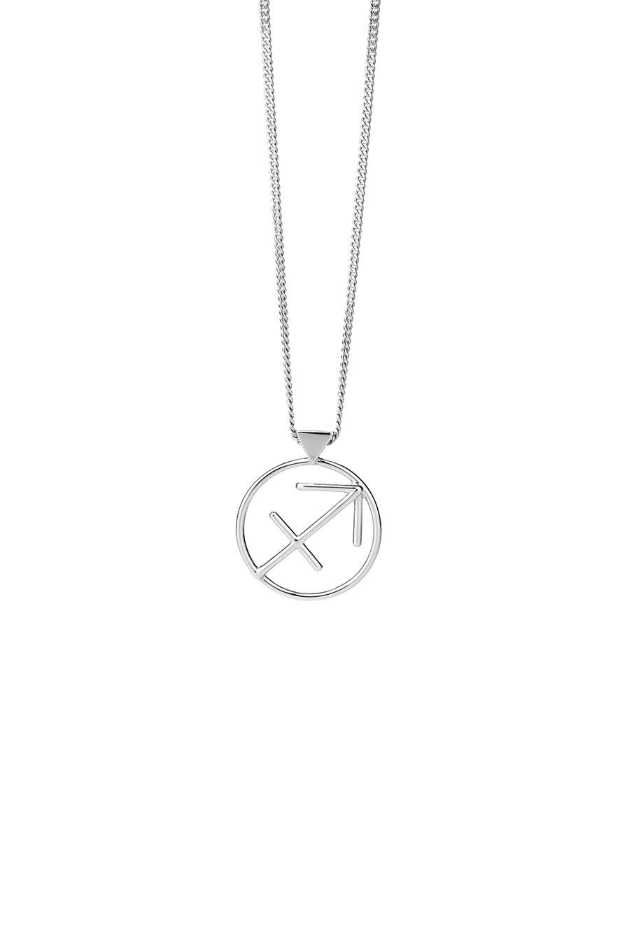 Sagittarius Necklace Silver
