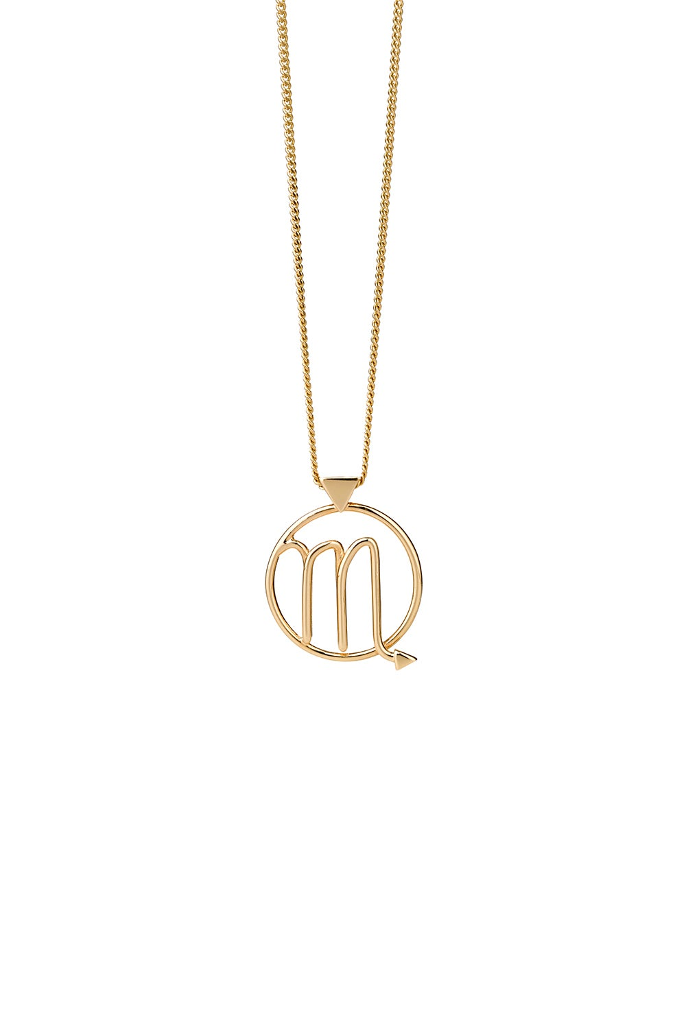 Scorpio Necklace Gold