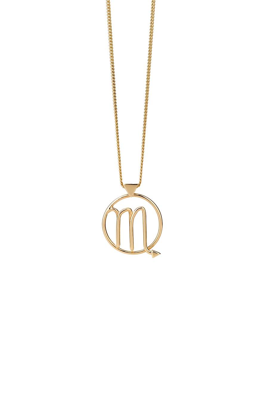 Scorpio Necklace Gold