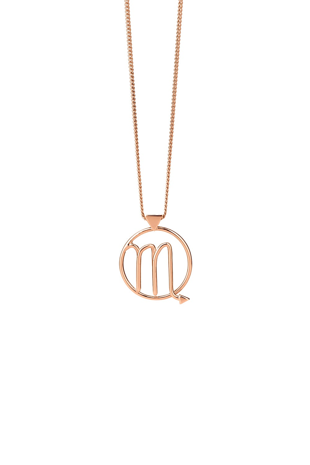 Scorpio Necklace Rose Gold