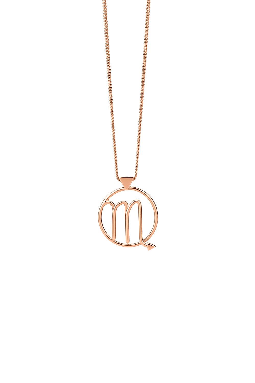 Scorpio Necklace Rose Gold