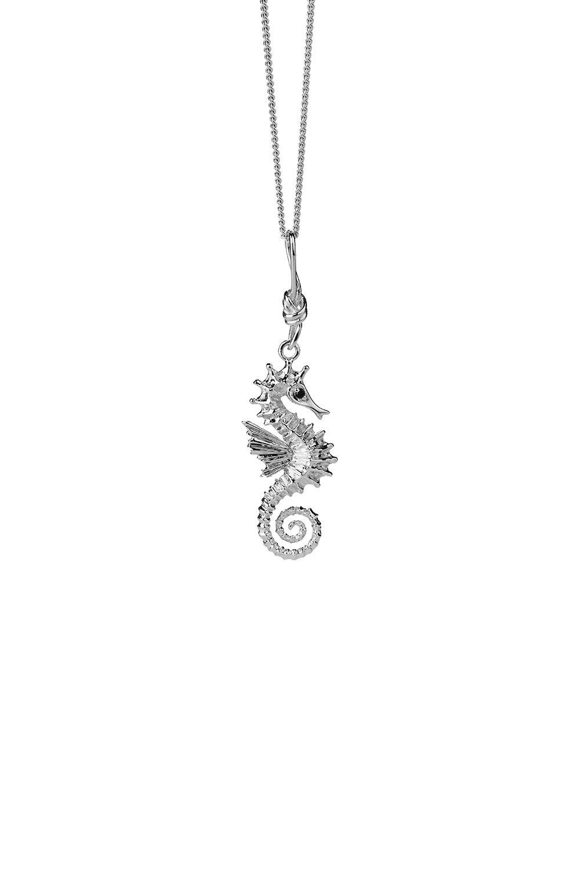 Seahorse Necklace Silver