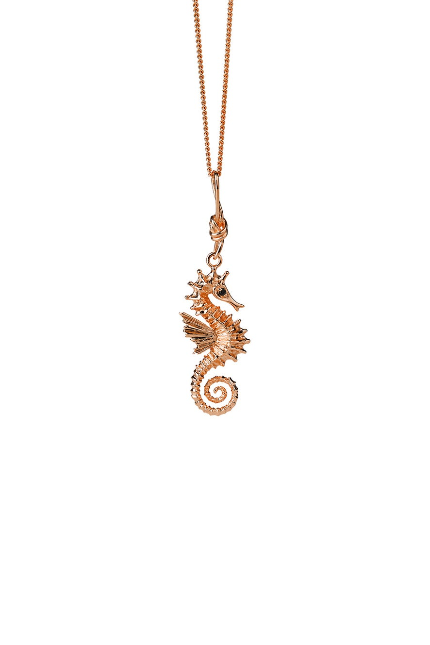 Seahorse Necklace Rose Gold