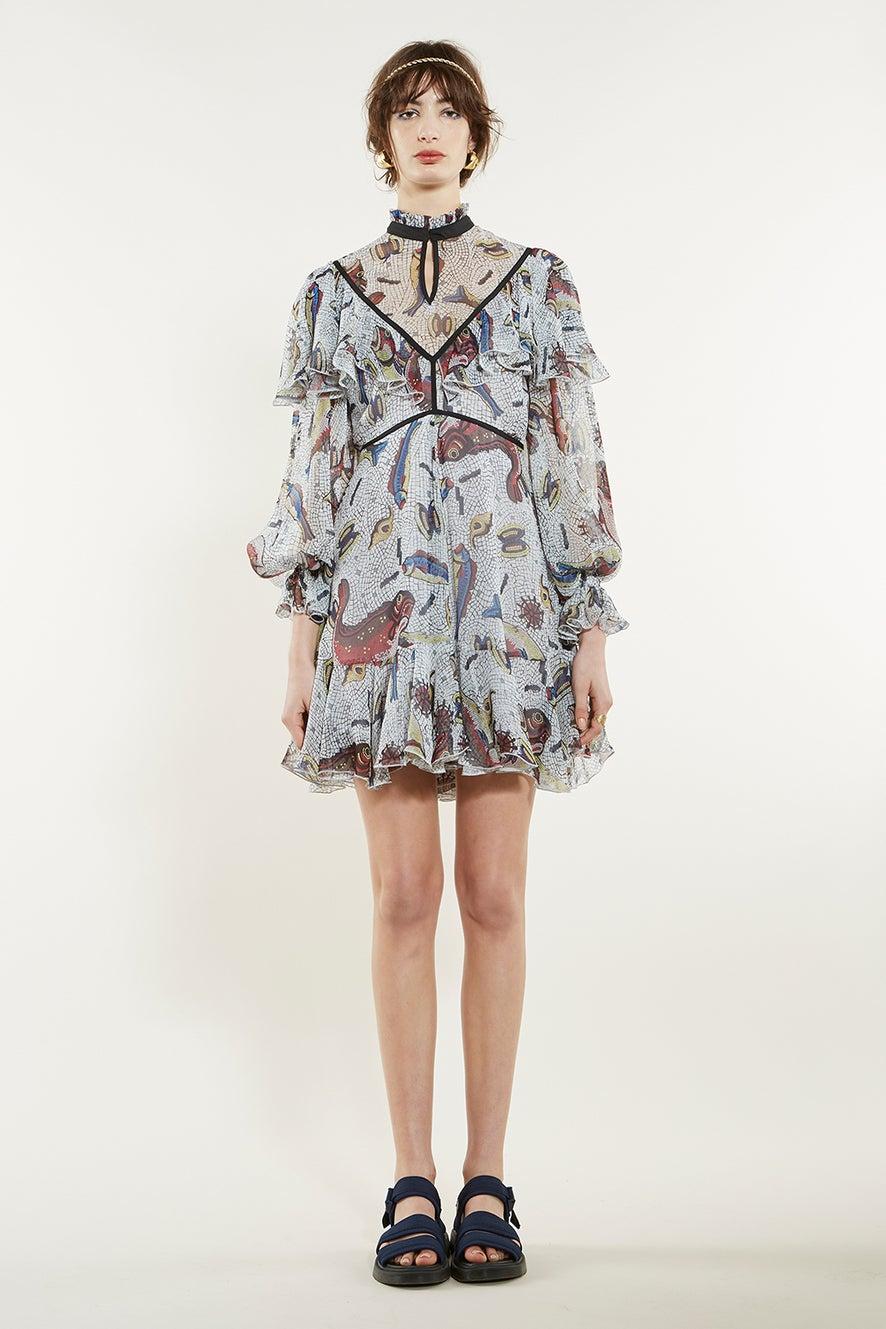 Selene Ruffle Dress