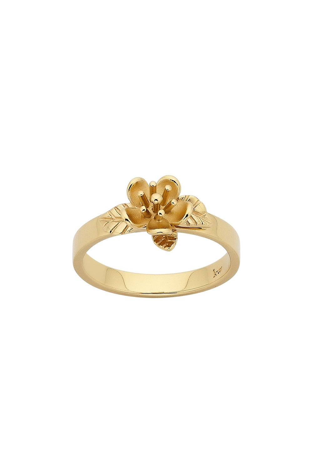 Single Flower Ring Gold