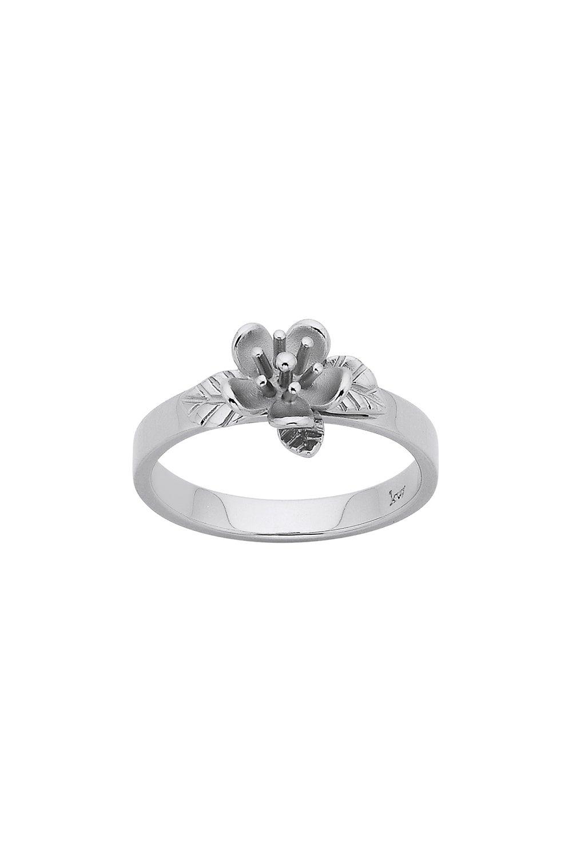 Single Flower Ring Silver