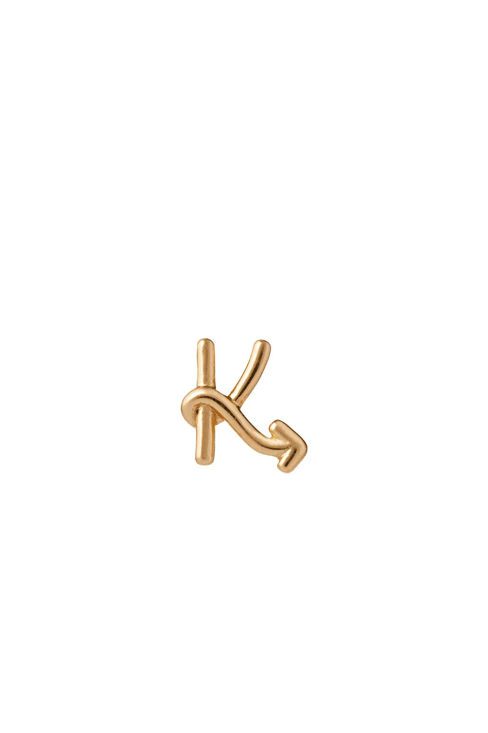 Single Initial Stud Gold