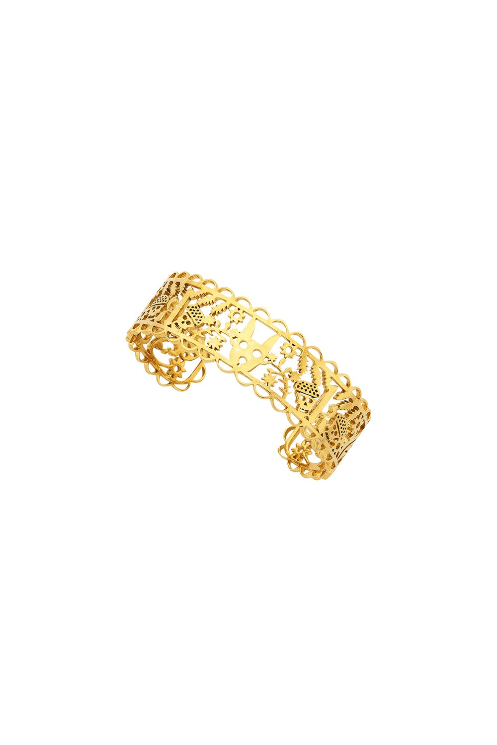 Small Filigree Cuff Gold