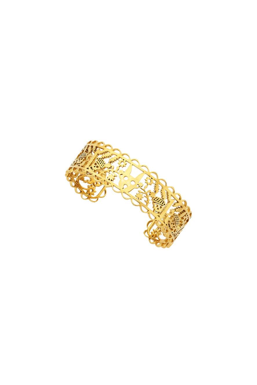 Small Filigree Cuff Gold