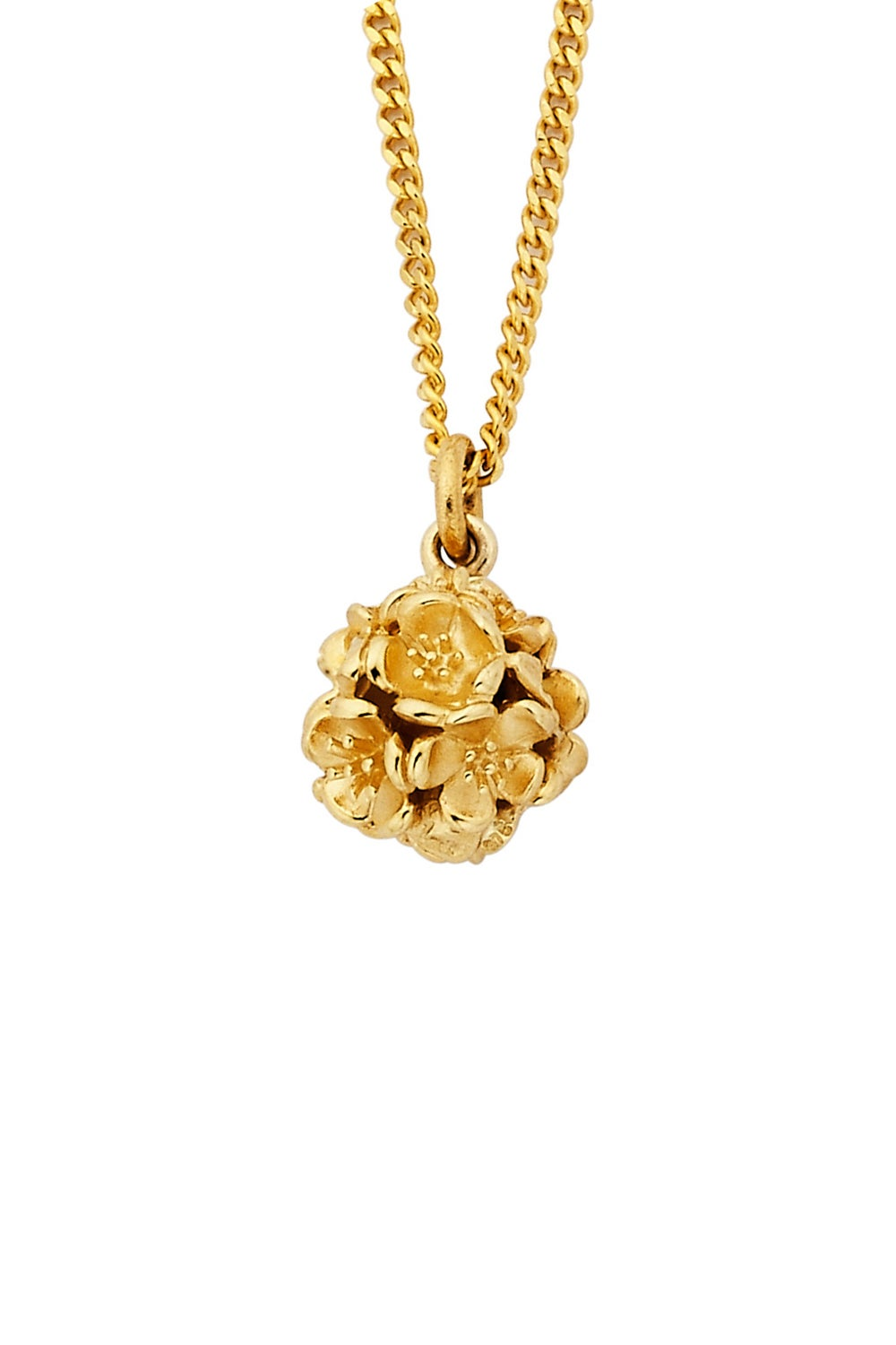 Small Flower Ball Pendant Gold