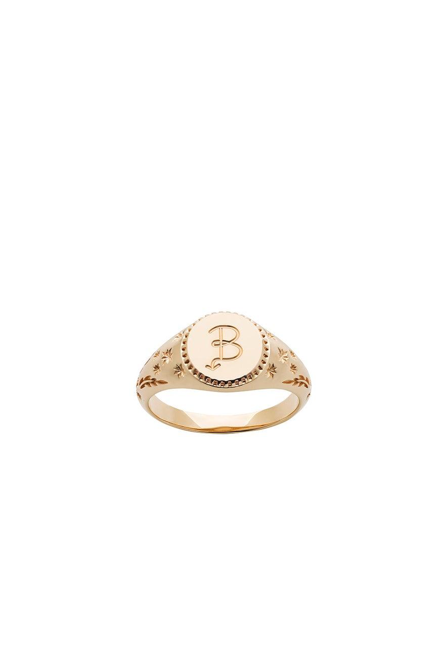 Society Signet Ring Gold
