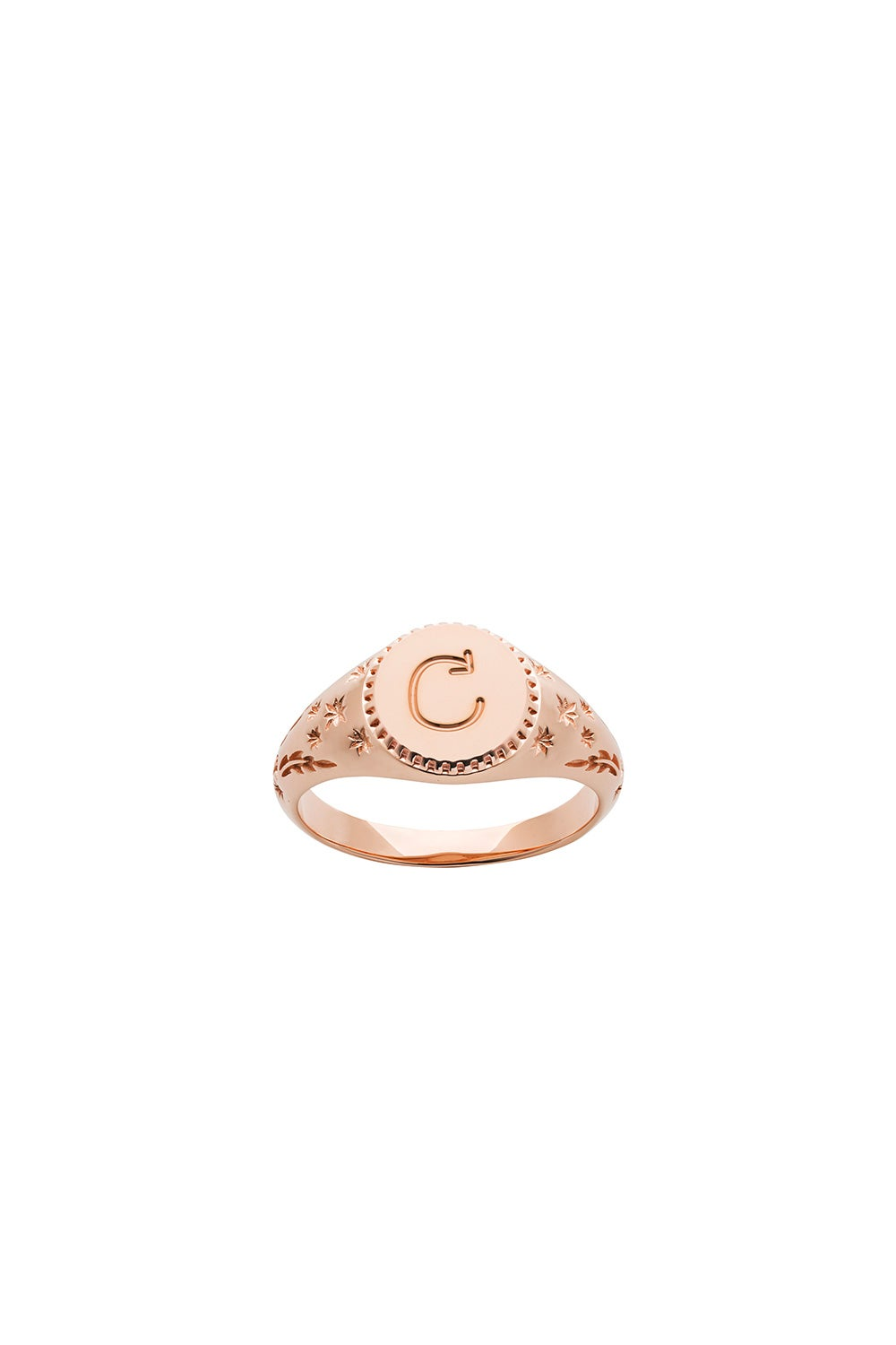 Society Signet Ring Rose Gold