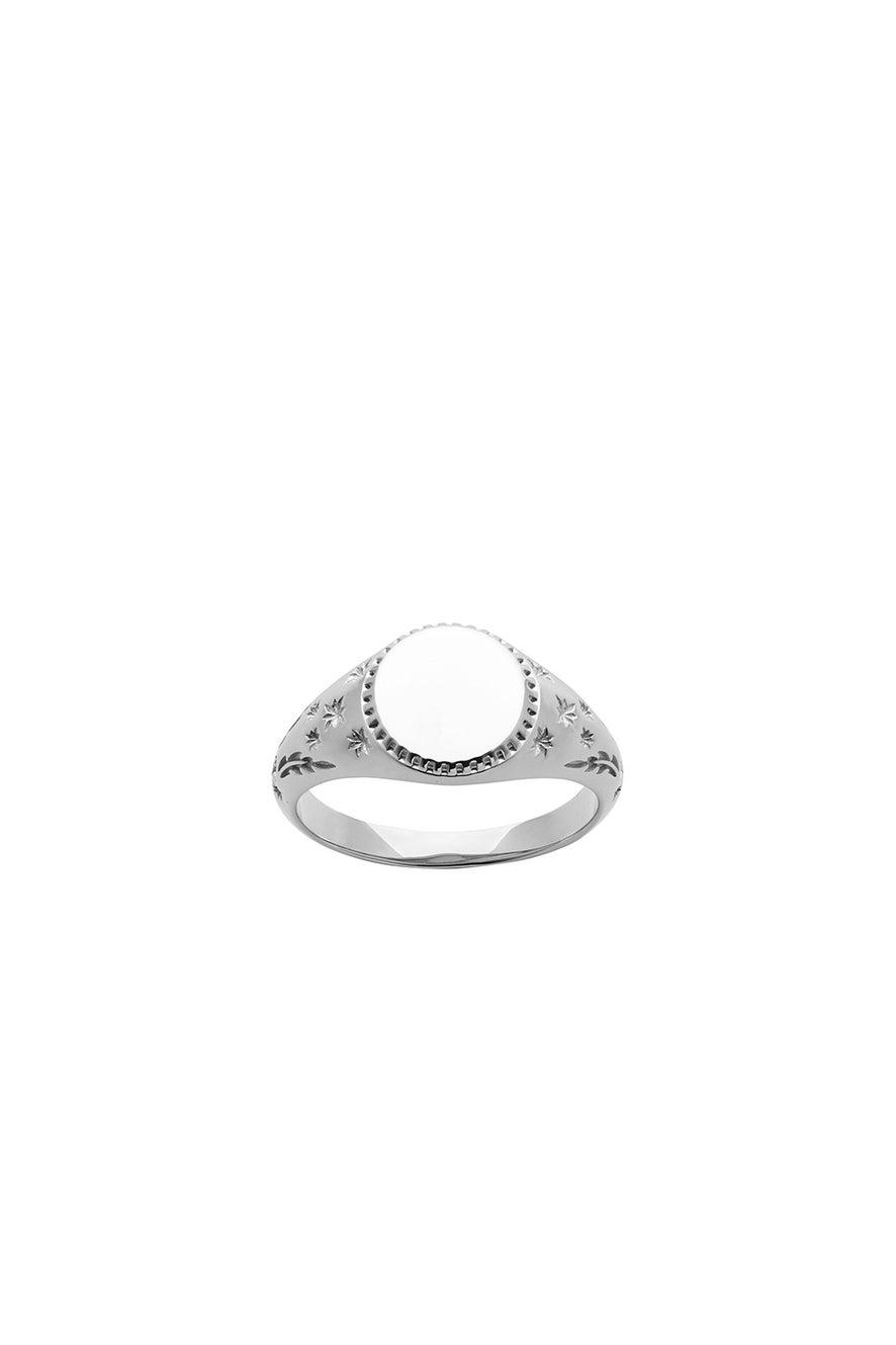 Society Signet Ring Silver