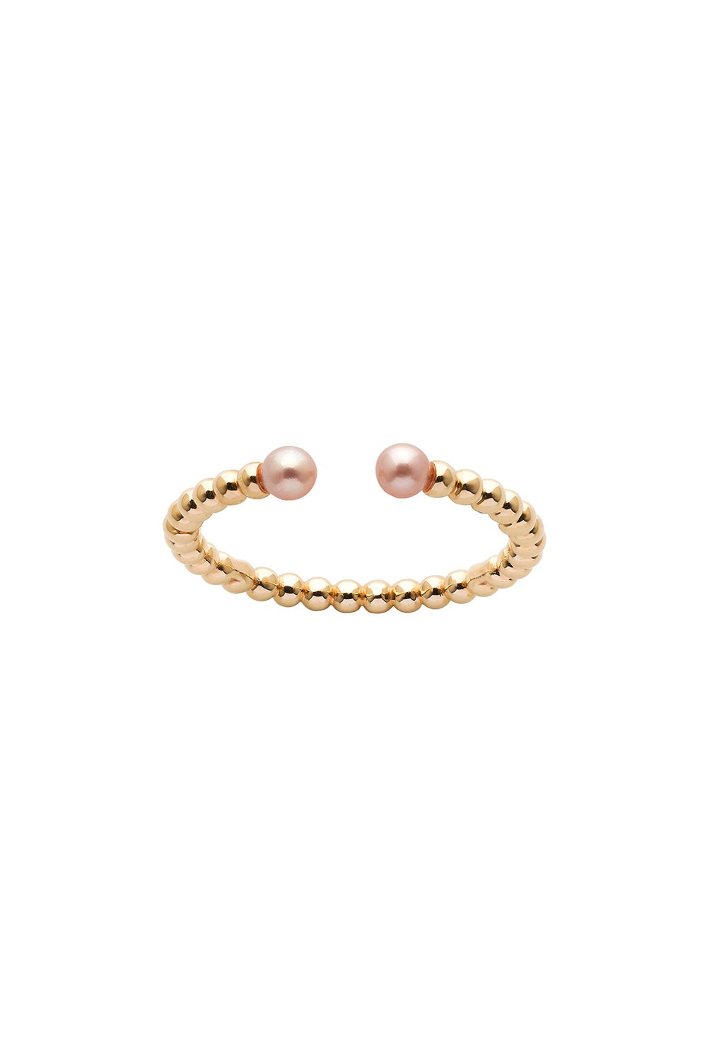 Split Wisdom Pearl Ring Gold