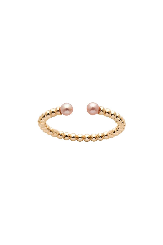 Split Wisdom Pearl Ring Gold
