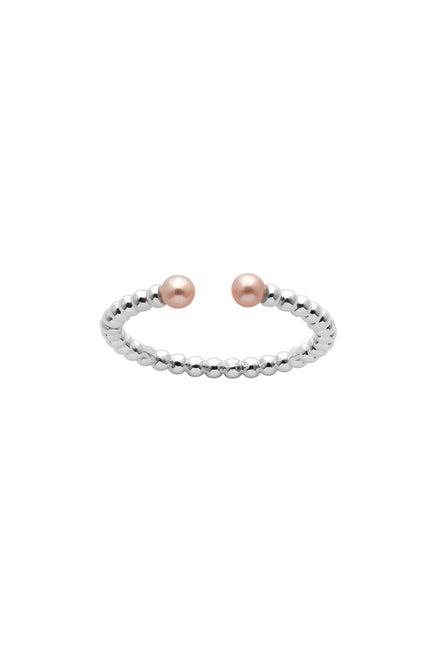 Split Wisdom Pearl Ring Silver